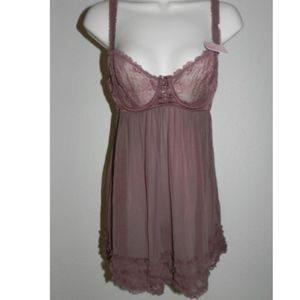 Affinitas by G Grace Babydoll Mink Underwire NWT